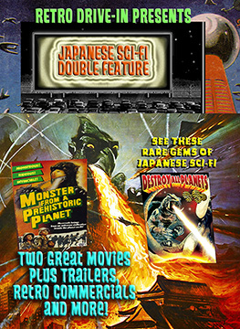 RETRO DRIVE-IN JAPANESE SCI-FI DOUBLE FEATURE