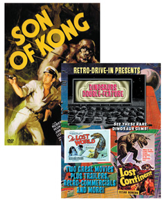 RETRO DRIVE-IN DINOSAURS + SON OF KONG DOUBLE DVD SET