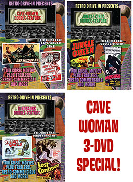 RETRO DRIVE-IN CAVE WOMEN 3-DVD SET