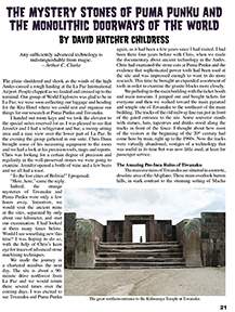 Mystery Stones of Puma Punku Article