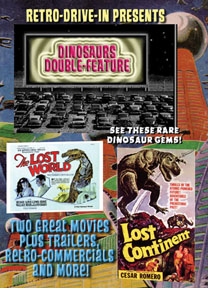 RETRO DRIVE-IN DINOSAURS-DOUBLE FEATURE
