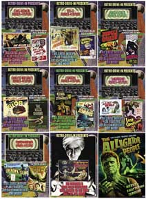 RETRO DRIVE-IN 16-MOVIE DVD SET.
